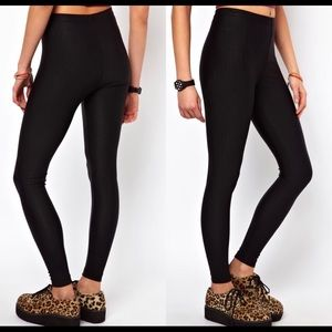 American Apparel ribbed high waisted leggings